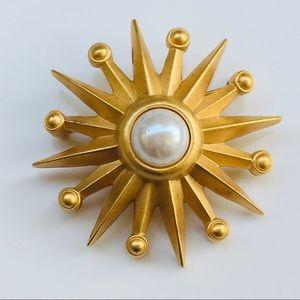 Gold pearl star brooch Nordstrom